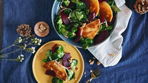 Sofficini al formaggio e insalata valeriana