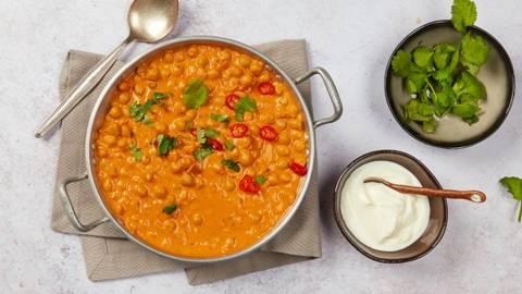 Curry di ceci al cocco