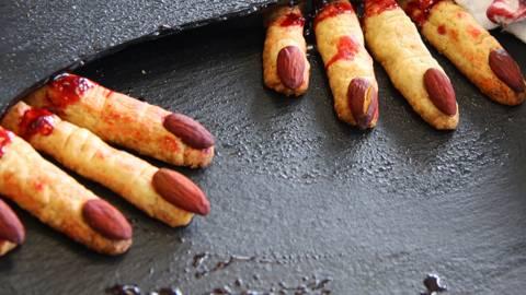 Biscotti di Halloween dita della strega