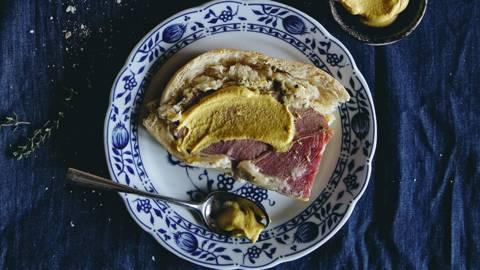 Noce di prosciutto in crosta di pane