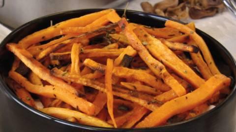 Patatine fritte di patate dolci