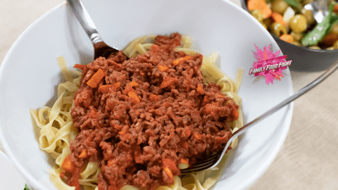 Family Food Fight: Tagliatelle al ragù