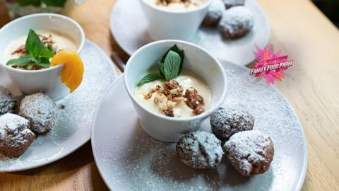 Family Food Fight: Palline di cocco con crema di frutta