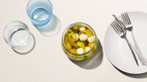 Mozzarella marinata