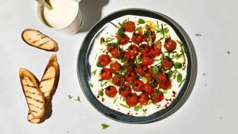 Pomodori arrostiti con yogurt