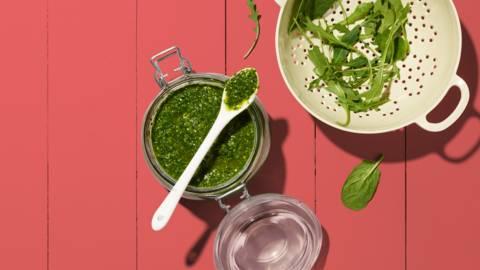 Pesto di spinaci e rucola