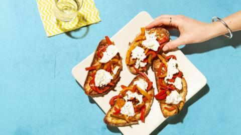 Bruschetta con peperoni arrostiti