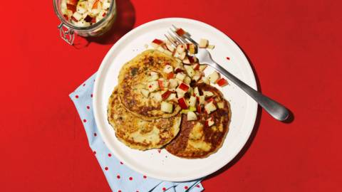 Pancake di patate con salsa alle mele