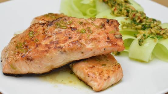 Salmone allo zenzero