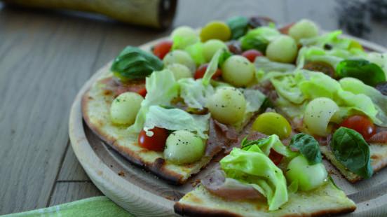 Pizza estiva grigliata