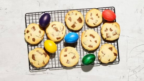 Cookies fatti con i coniglietti di cioccolato