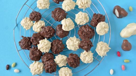 Cioccolatini con scaglie di mandorle