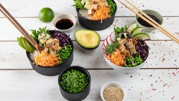 Bowl con riso e tofu