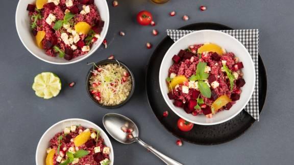 Bowl di quinoa e barbabietole rosse