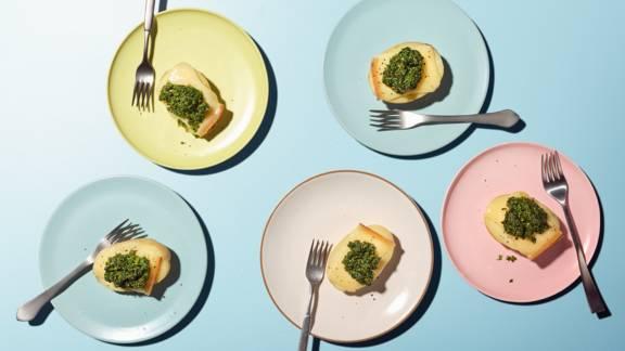 Bruschette con patate e raclette