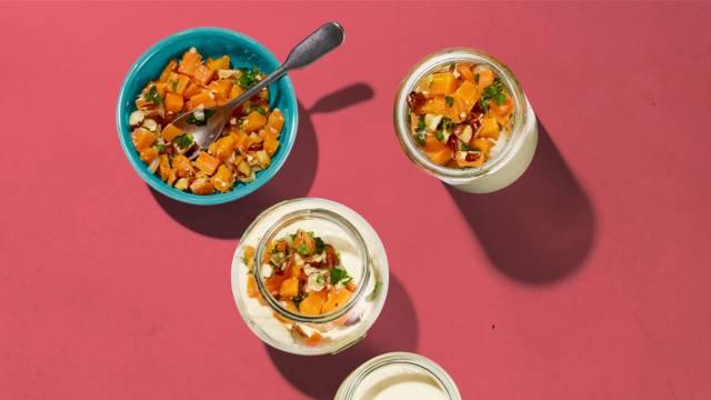Panna cotta al parmigiano con salsa alle carote