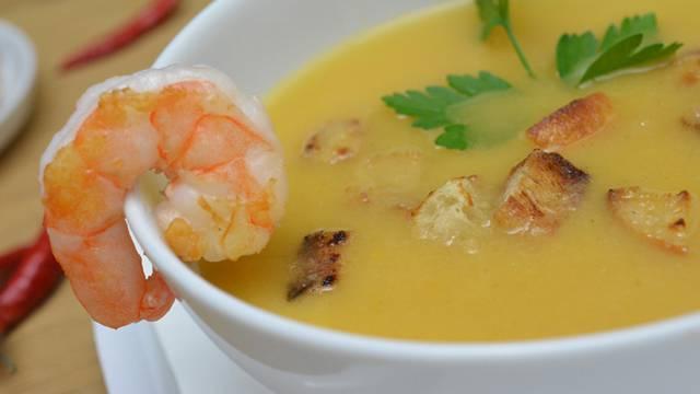 Sopa de Camarão Portugiesische Garnelensuppe