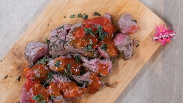 Family Food Fight: Filetto di agnello con chutney di pomodoro