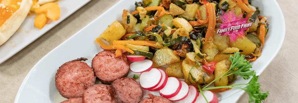 Family Food Fight: Kabab Kachalu Kabab Kachalu (piatto a base di patate)