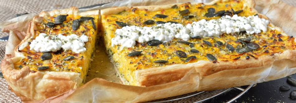 Torta salata cottage cheese e zucca