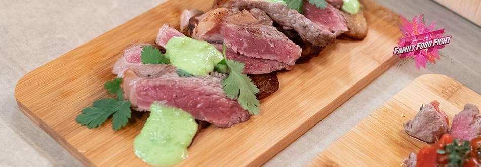 Family Food Fight: Manzo con wasabi, platano e coriandolo