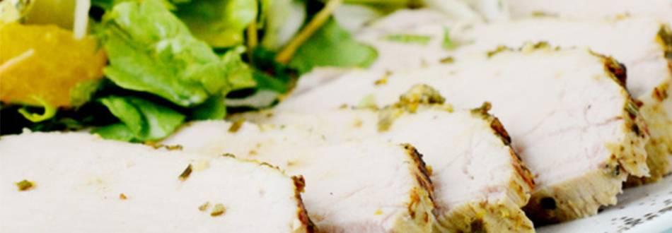 Carré di maiale con insalata