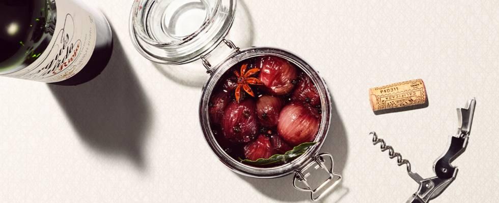 Scalogni al vino rosso