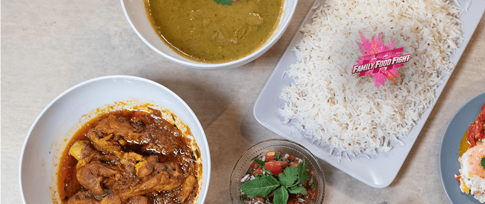 Family Food Fight: Morgh Chalau Teller
