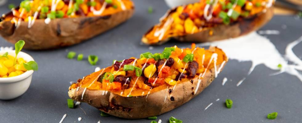 Patate dolci ripiene vegane