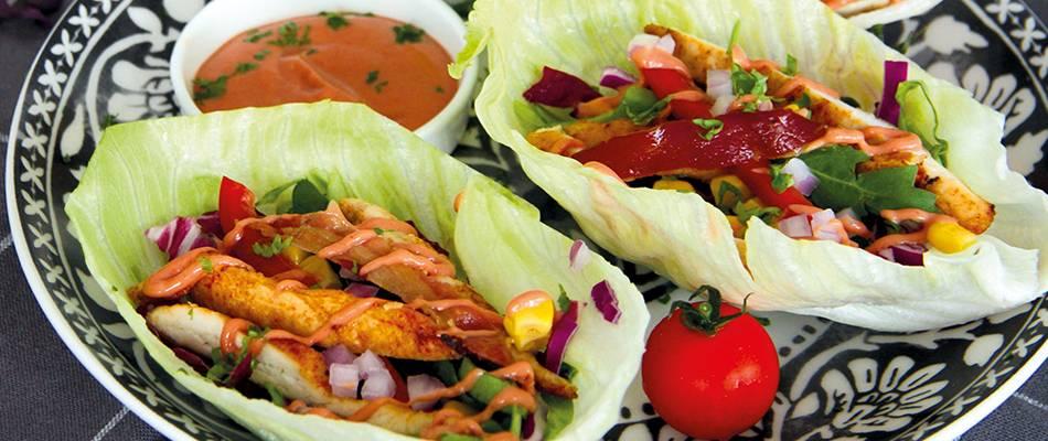 Wrap con pollo e insalata