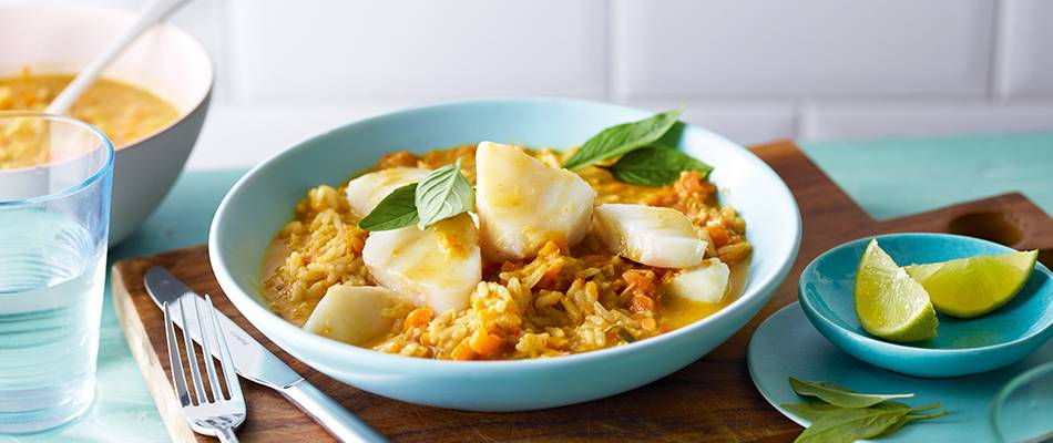 Curry di pesce asiatico
