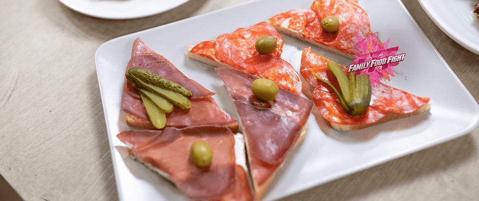 Family Food Fight: Tartine mit Rohschinken und Salami