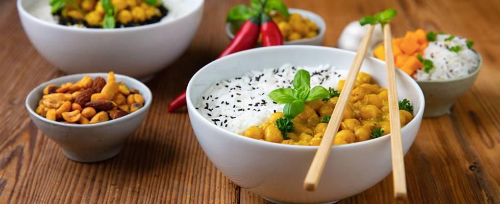 Curry vegano con ceci e zucca