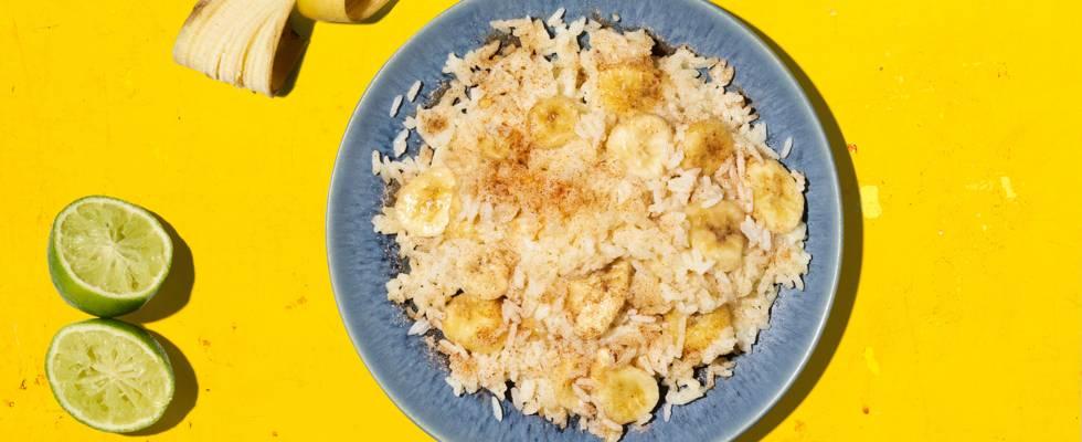 Tegamino energetico di riso alle banane
